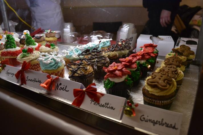 The cupcake display