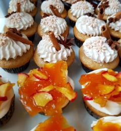 Apple caramel and chai spice cupcakes