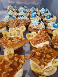 Walnut-banana cupcakes